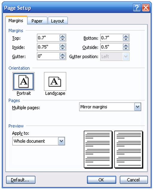 microsoft to pdf printer custom paper size